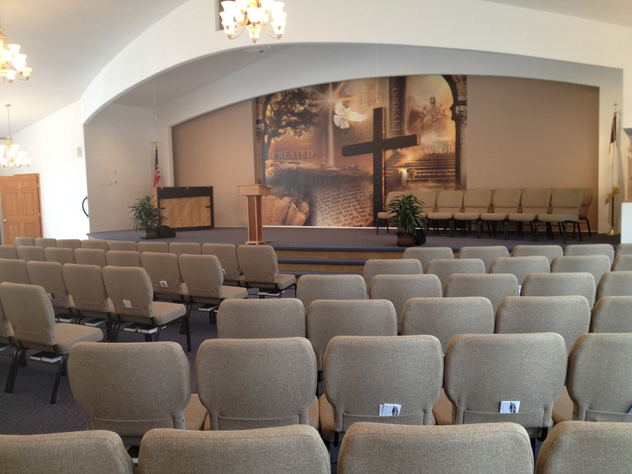 22. The New Auditorium complete with new sound system- Thank you Lord for the dedication of thy people.