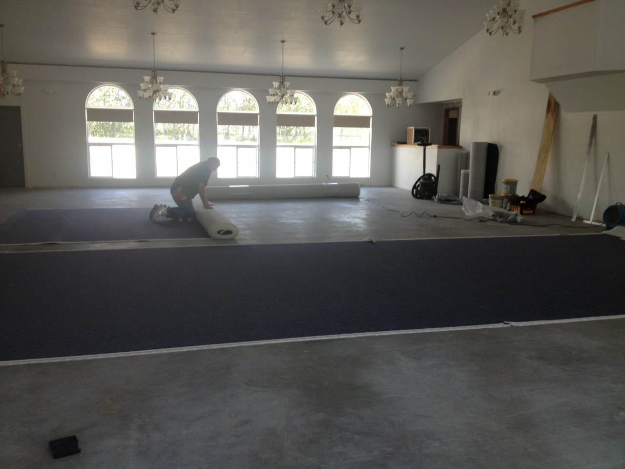 16. The new carpet is finally here